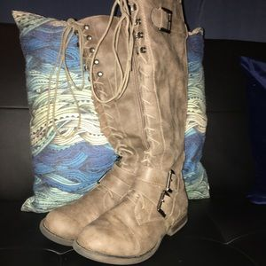 Amex's knee high boots